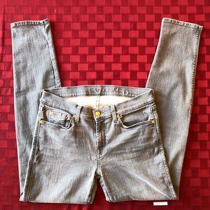 7 For All Mankind slim cigarette jean. size 32